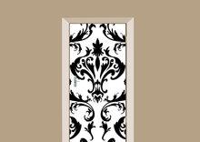Deursticker barok zwart wit