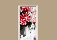 deursticker bloemen bloemstuk