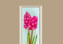 deursticker bloemen hyacint