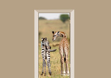 Deursticker Safari vriendjes