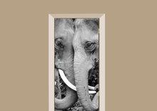 Deursticker twee olifanten