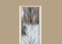 deursticker dierenprint hondenvacht wit