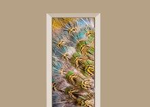 deursticker dierenprint pauw