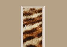 deursticker dierenprint tijger bont
