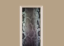 deursticker dierenprint slangenprint grijstinten