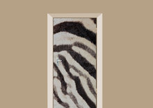 deursticker dierenprint zebraprint