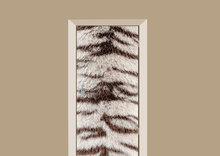 deursticker dierenprint bengaalse tijgerprint
