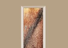 deursticker dierenprint rode vossenvacht