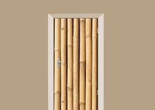 deursticker hout bamboe a