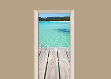 deursticker natuur kust van corsica