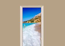 deursticker natuur strand
