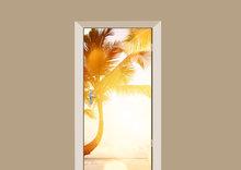 deursticker natuur palm