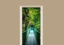 deursticker natuur loopbrug