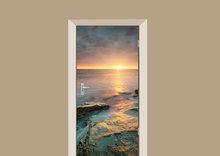 deursticker natuur zonsopkomst