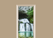deursticker natuur watervallen