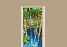 deursticker natuur hangende planten