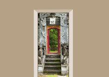 deursticker natuur tempel