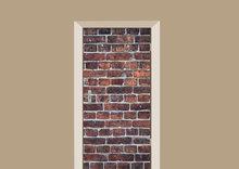 deursticker tegels en stenen bakstenen muur