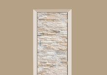 deursticker tegels en stenen muur wit