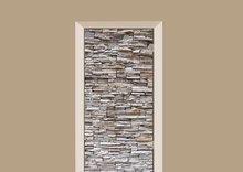 deursticker tegels en stenen muur