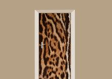 deursticker textuur vacht jaguar