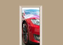 Deursticker rode auto