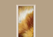 deursticker dierenprint rode kattenvacht